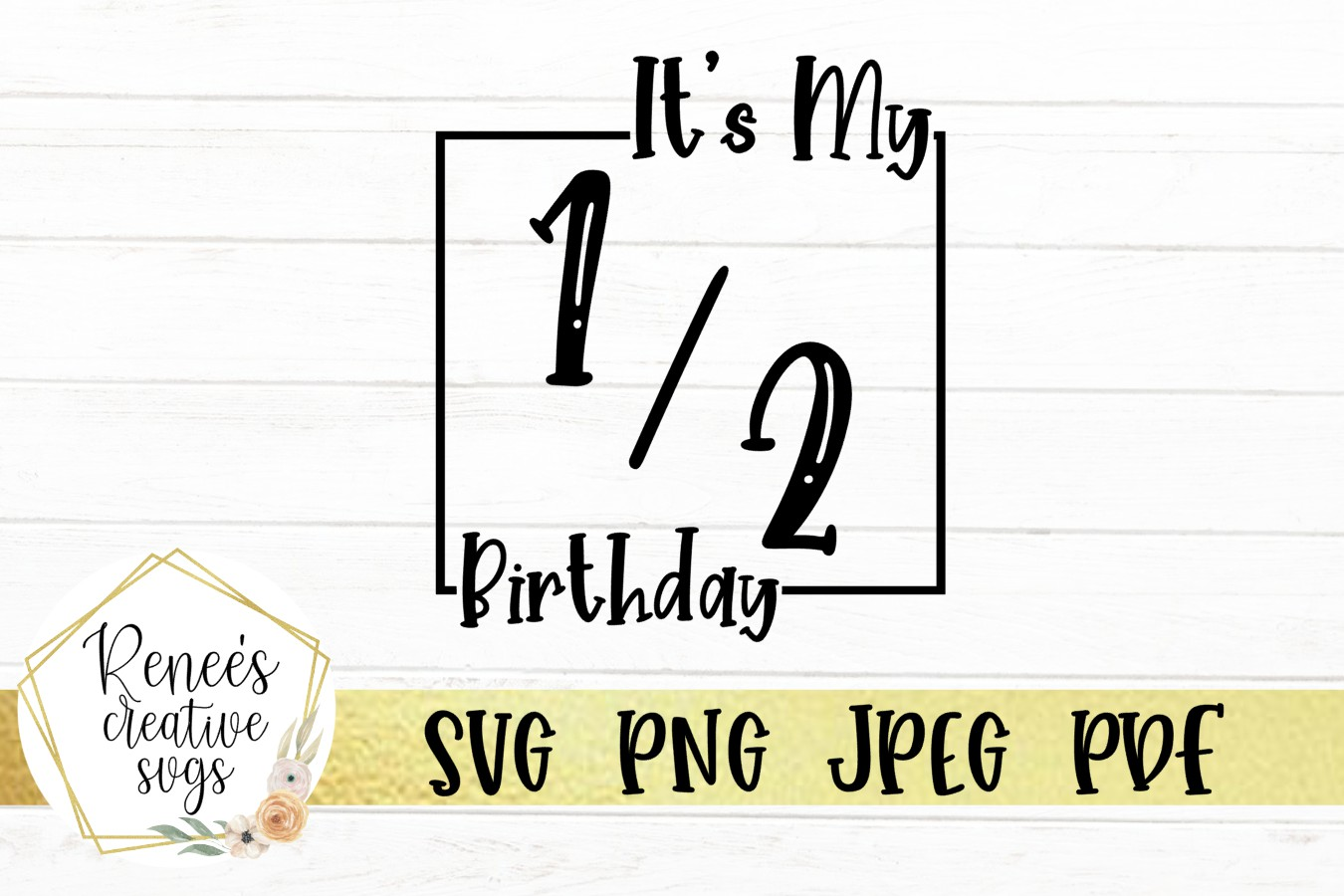 Its my 1/2 Birthday | Birthday SVG | SVG Cutting File example image 2