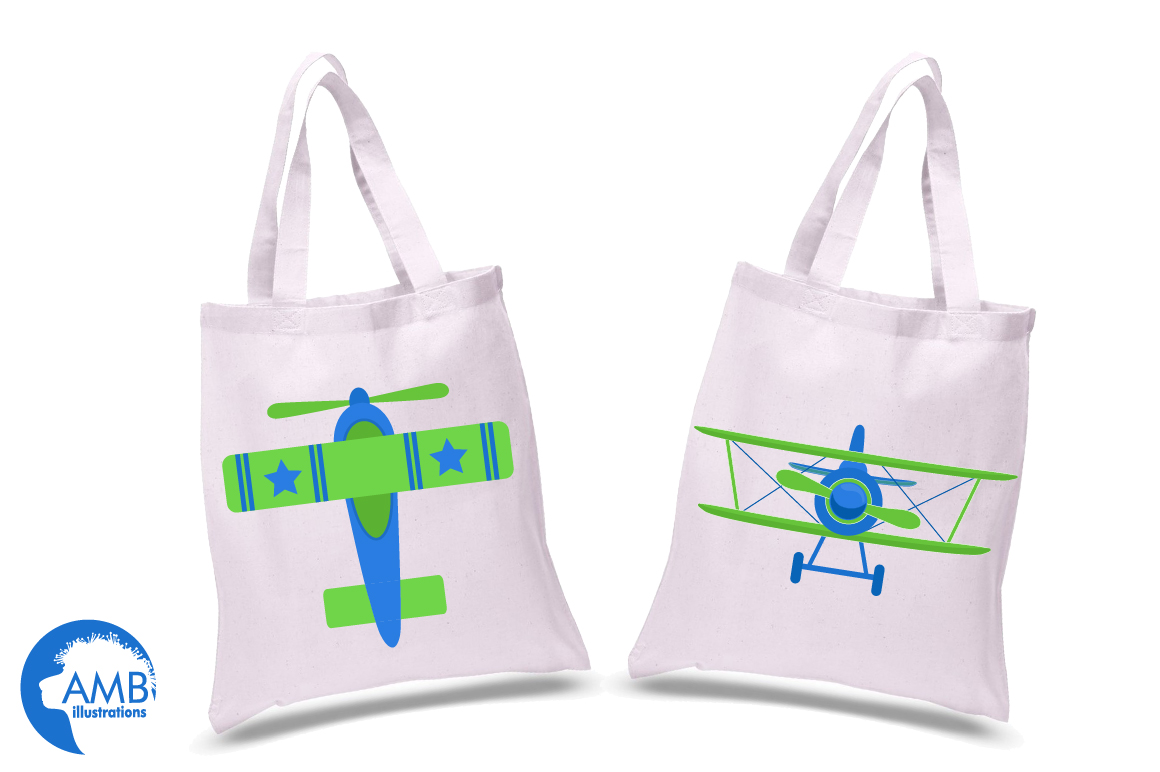 Airplane clipart, Airplane graphics, Biplane, Plane clipart, graphics, illustrations AMB-2270 example image 2