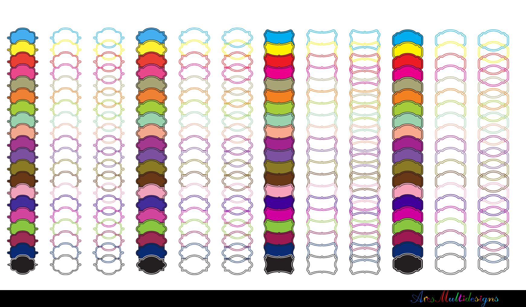 Label clipart bundle / digital label clipart bundle / frames bundle / high quality frames / digital frames clip art / label clipart example image 3