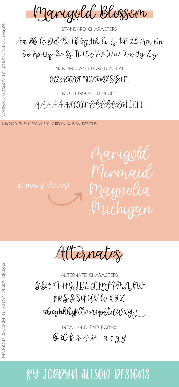 Marigold Blossom, Hand Lettered Script Font example image 12