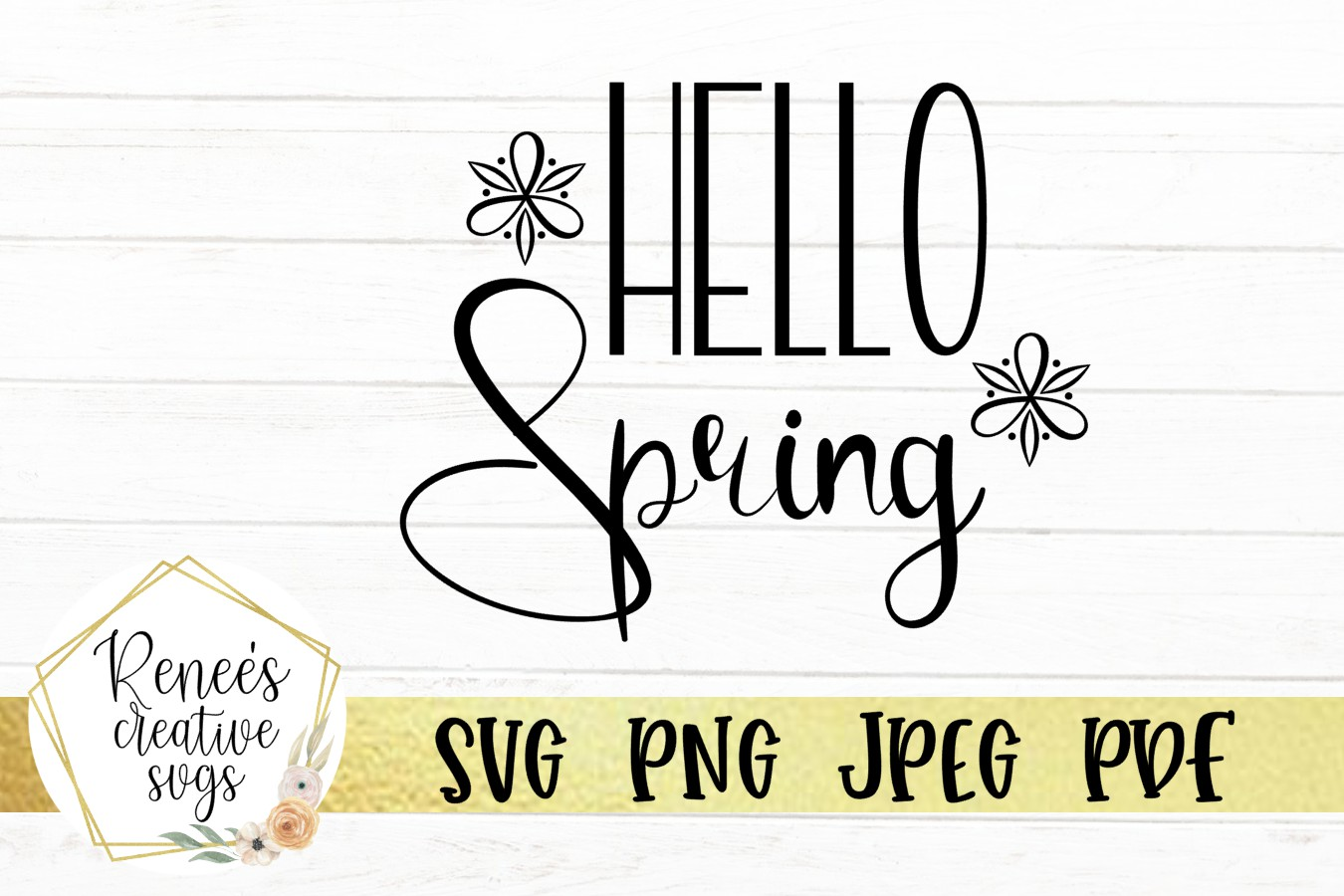 Hello Spring   Spring   SVG Cutting File example image 2