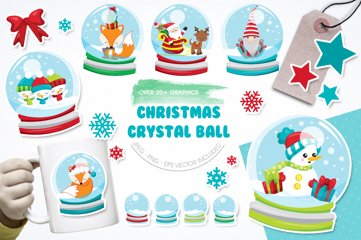 Christmas Globe graphic and illustrations example image 1