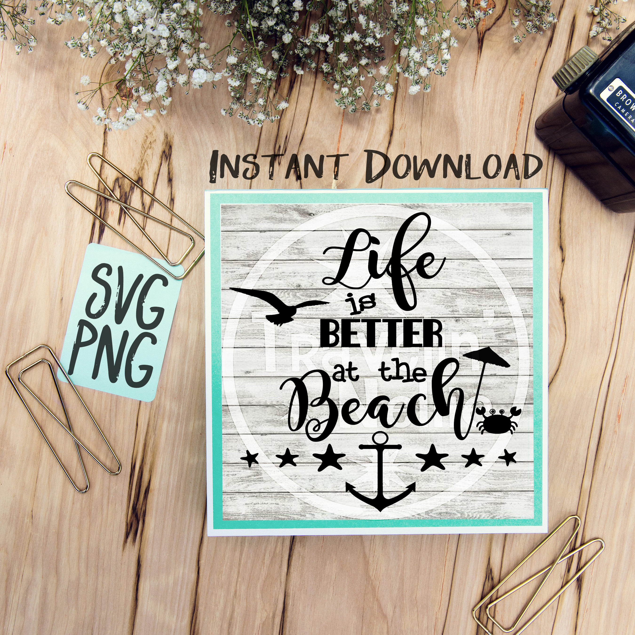 Life Is Better At The Beach SVG Beach Summer Time Quote example image 1