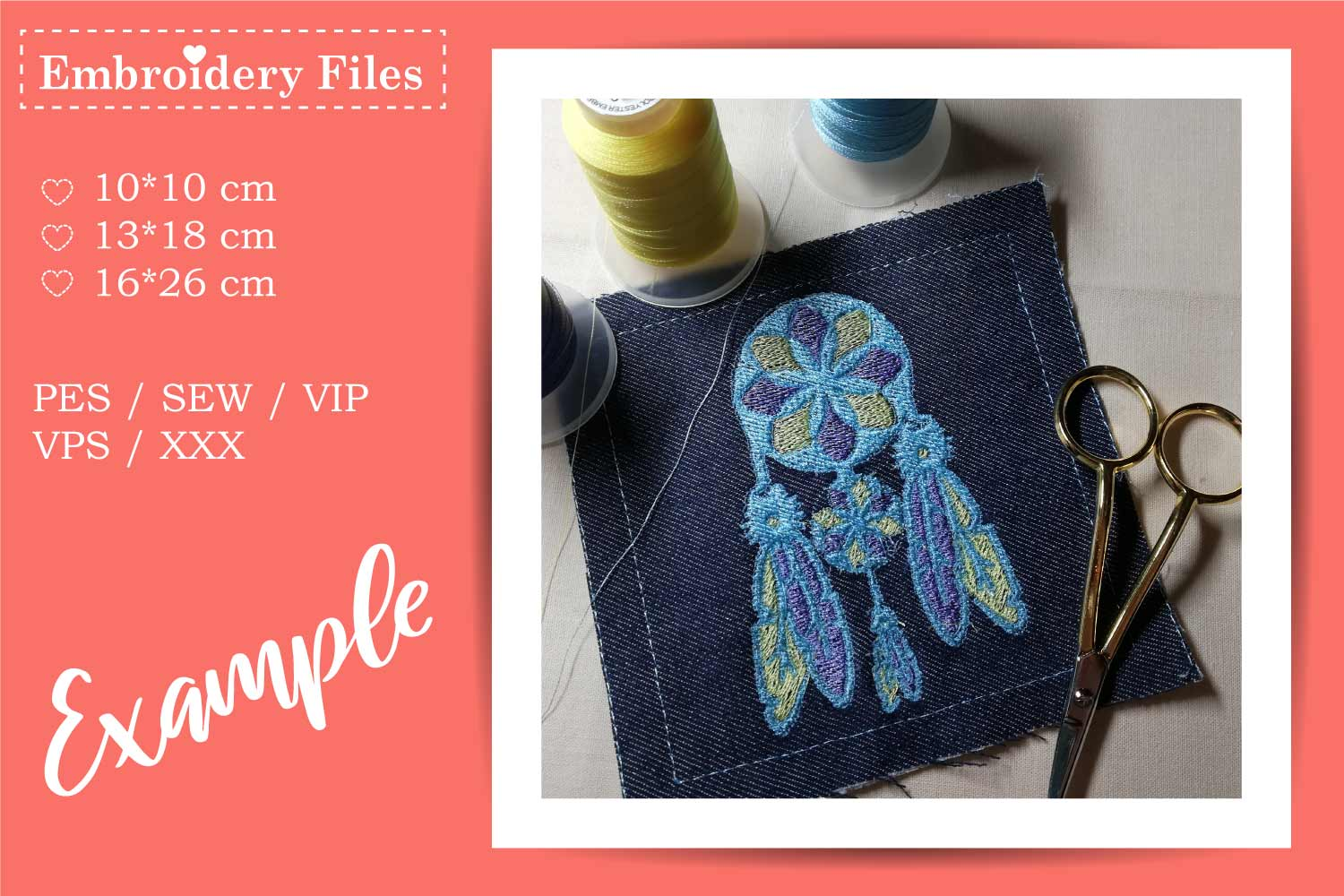 Dreamcatcher - Embroidery File for Beginners example image 1