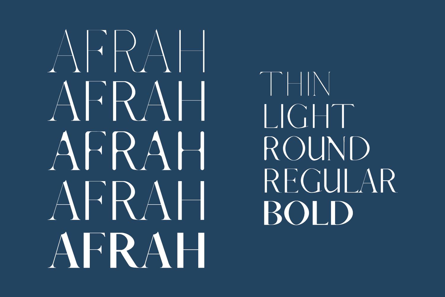 Afrah Serif Font Family Pack example image 2