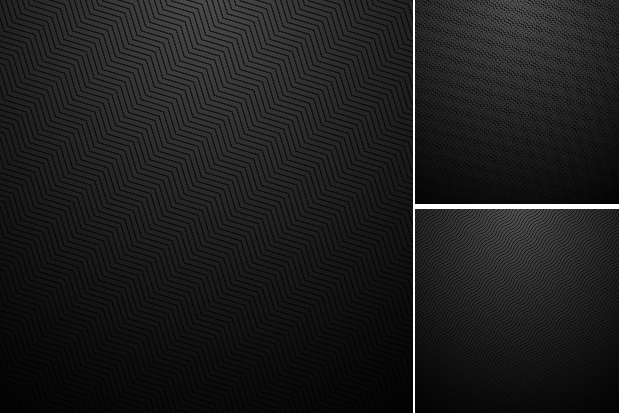 Black backgrounds. Striped textures. example image 6