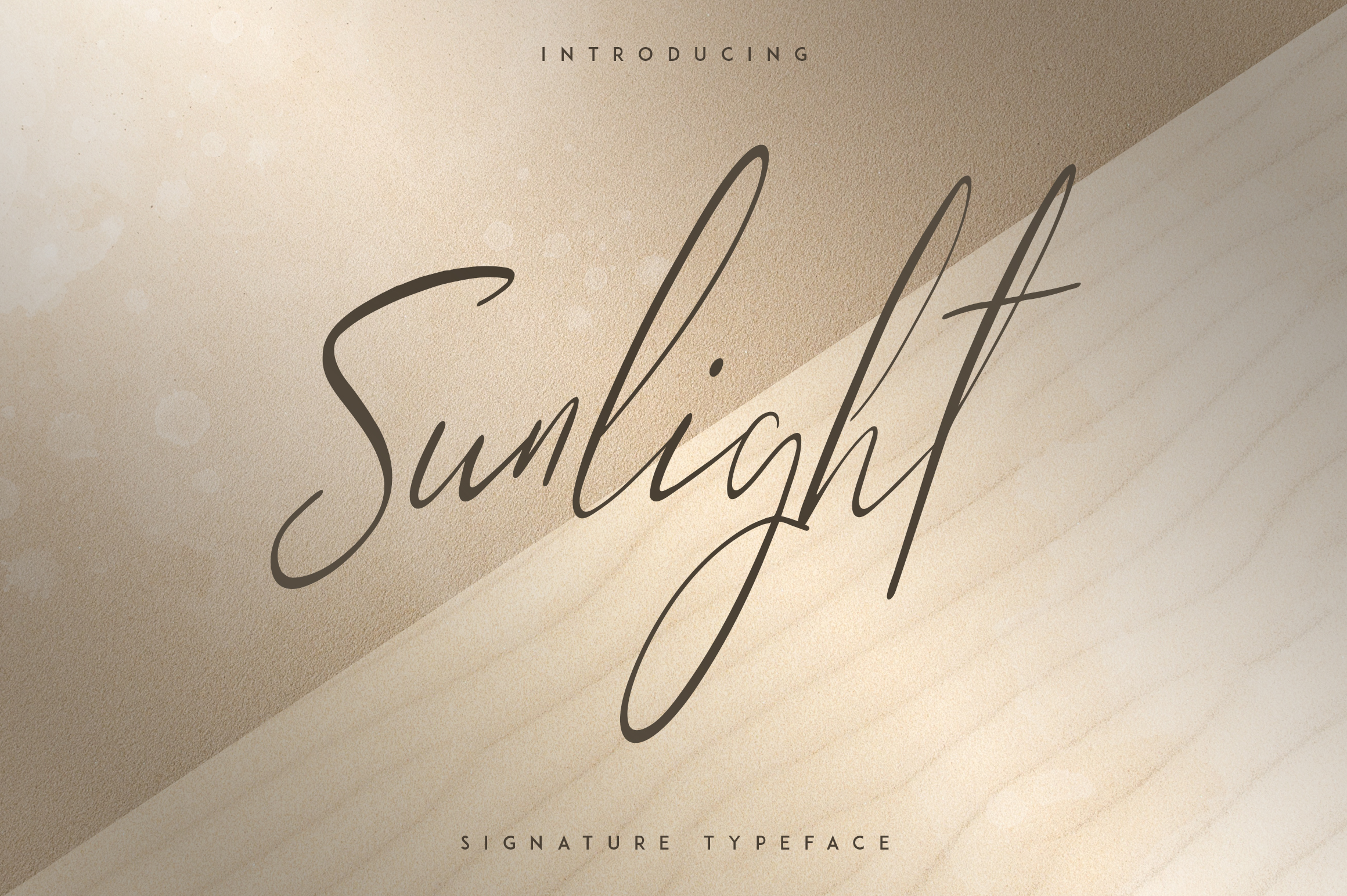Sunlight - Signature typeface example image 1