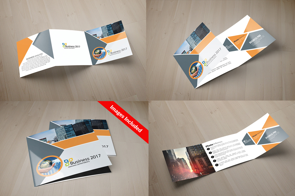 25 Square Trifold Business Brochures Bundle example image 12
