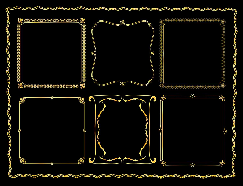 25 golden vintage frames example image 2