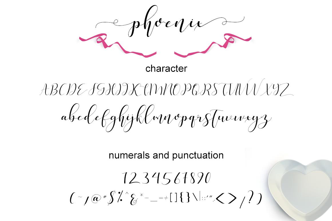 phoenix sweet calligraphy modern example image 7