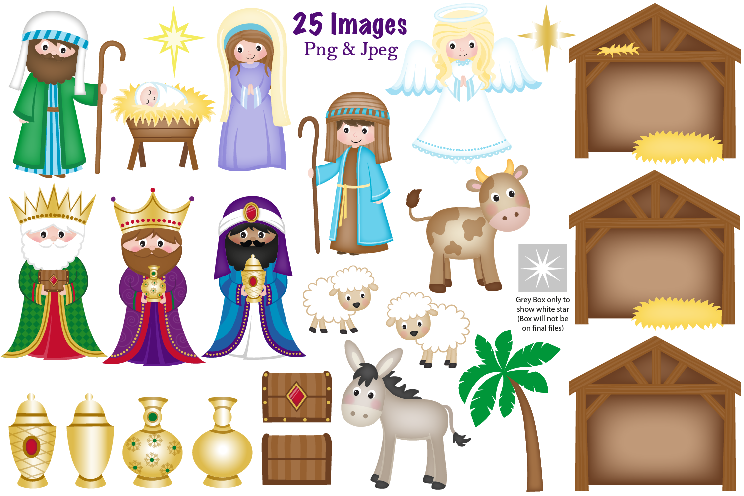 Nativity clipart, Christmas Nativity, Nativity Scene example image 2