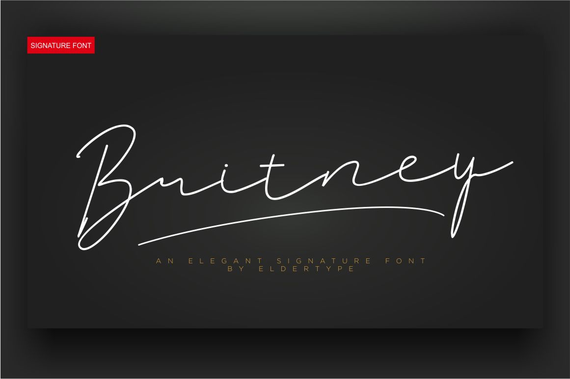 Britney Signature Font example image 8