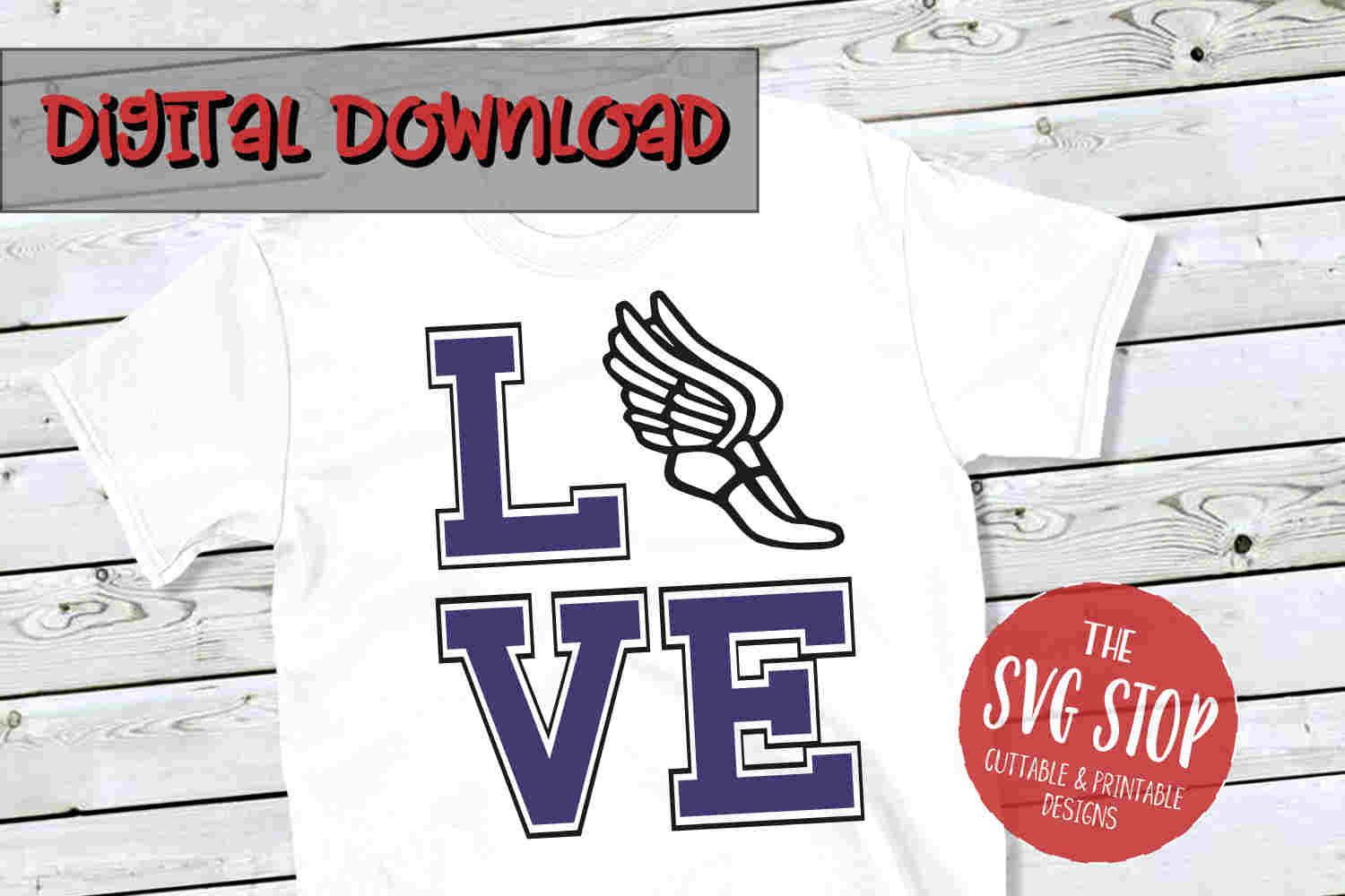 Love Cross Country 2-SVG, PNG, DXF example image 1