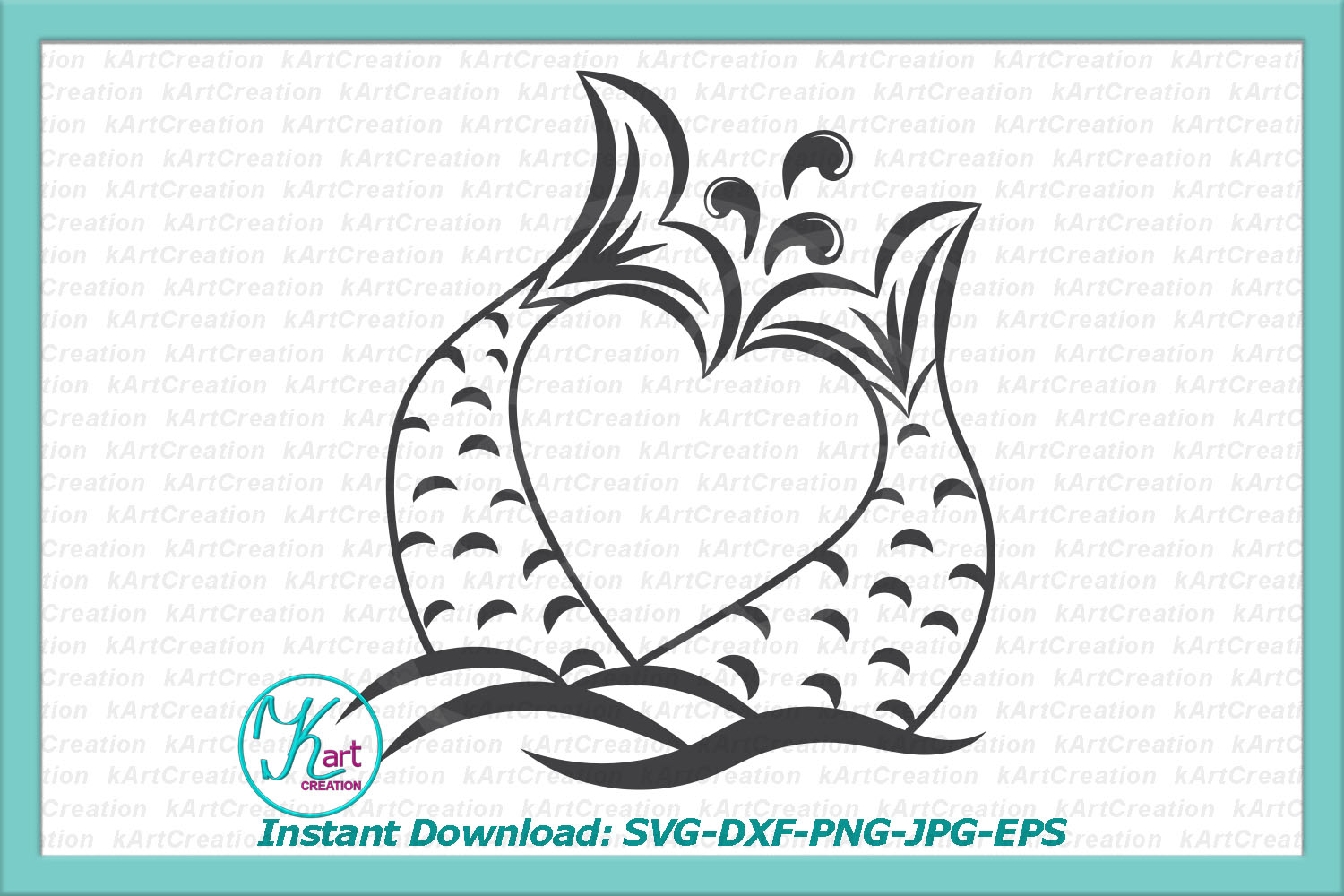 Unicorn Mermaid bundle svg dxf files clipart printable png example image 4