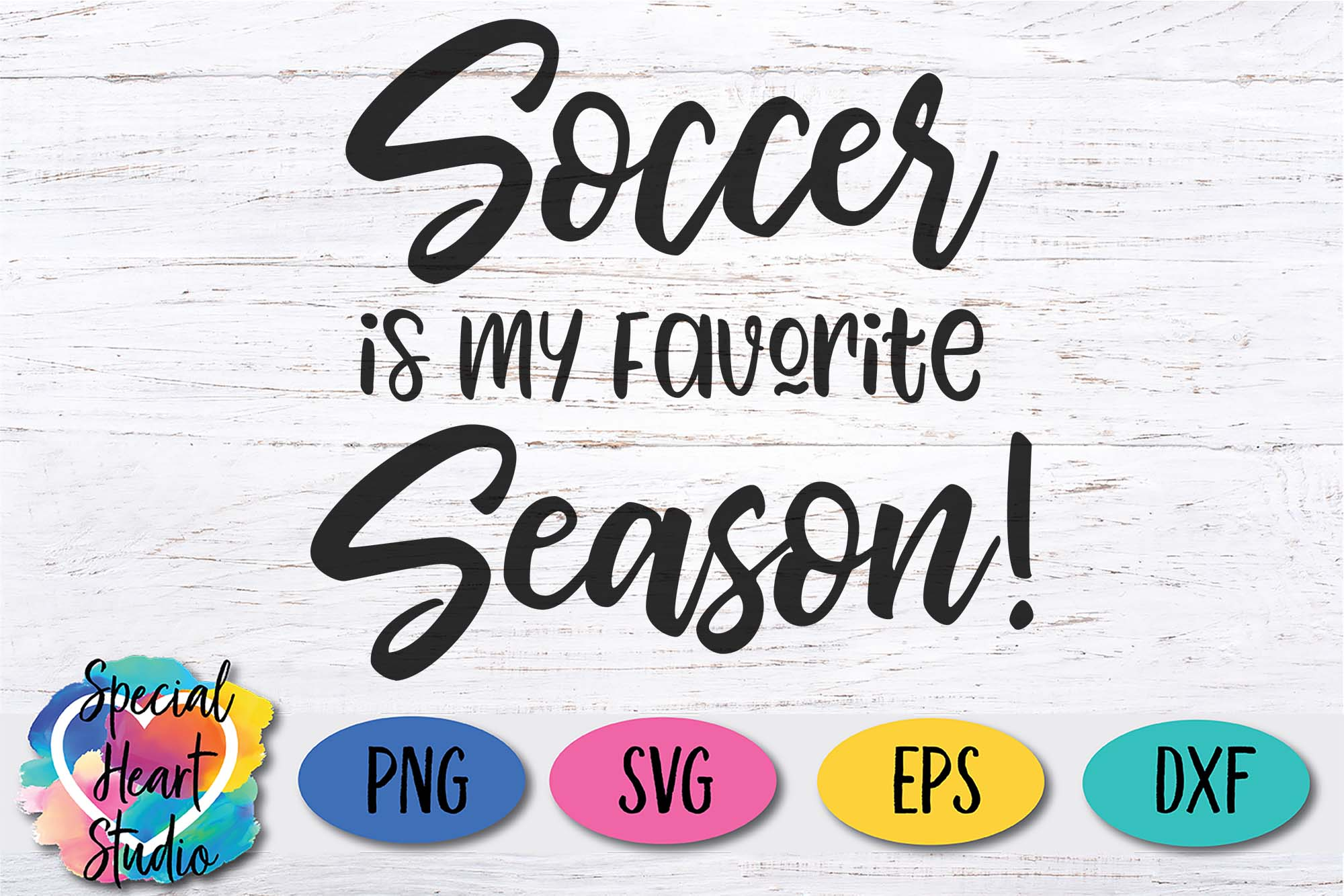 Soccer Is My Favorite Season - A Soccer SVG Cut File example image 2