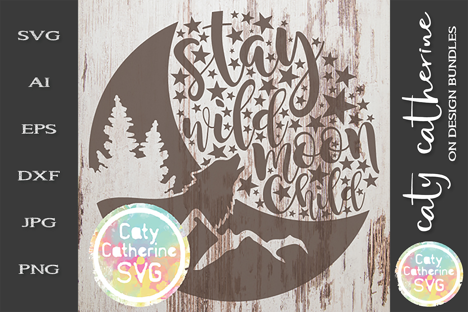 Stay Wild Moon Child SVG Cut File example image 1