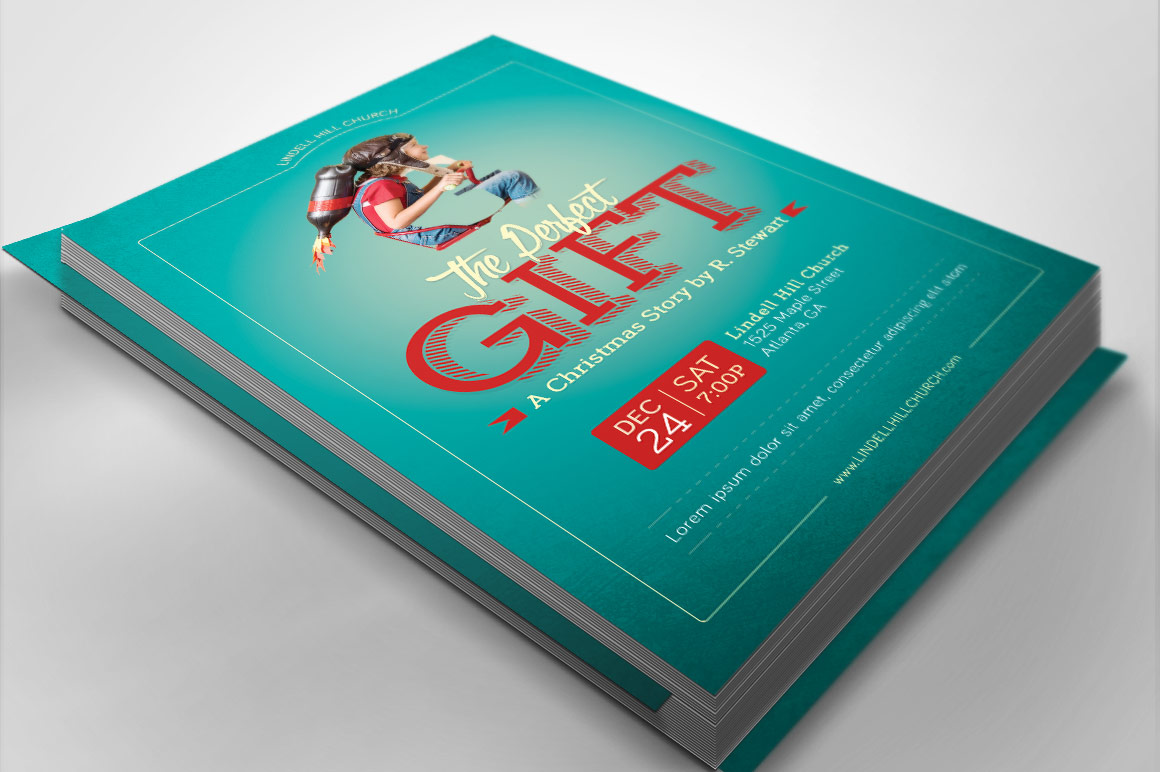 Perfect Gift Church Flyer Poster Template example image 2