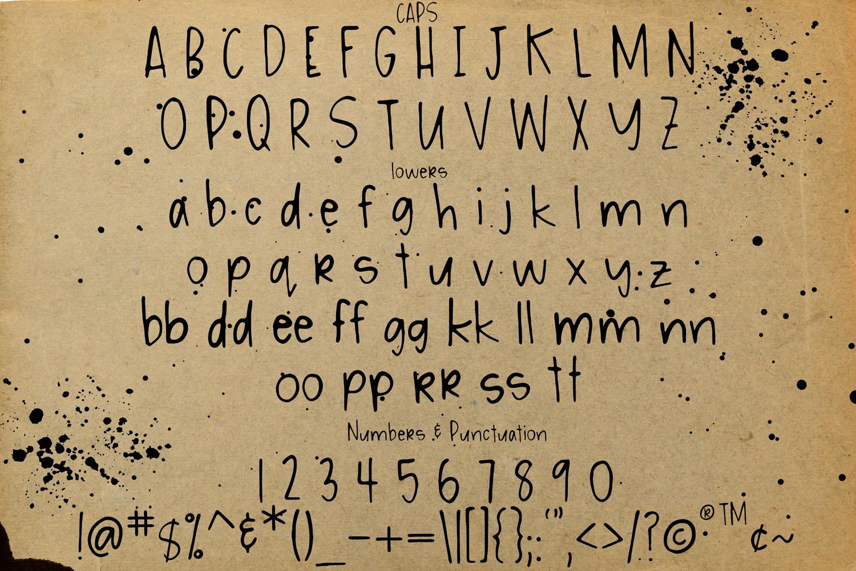 Messy Ink Pen Handwritten Font example image 3