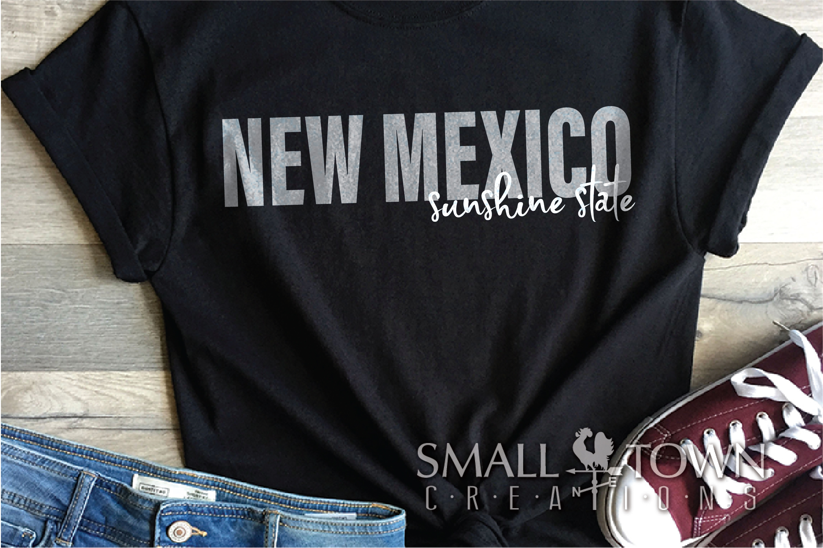 New Mexico, Sunshine State - slogan, PRINT, CUT & DESIGN example image 8