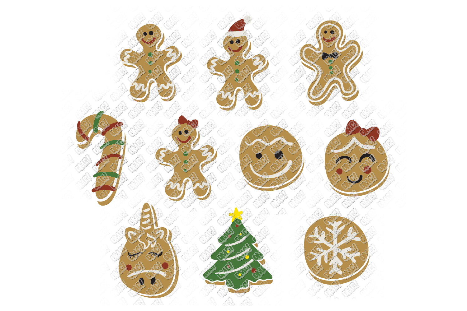Christmas Cookies SVG Bundle in SVG, DXF, PNG, EPS, JPEG example image 3