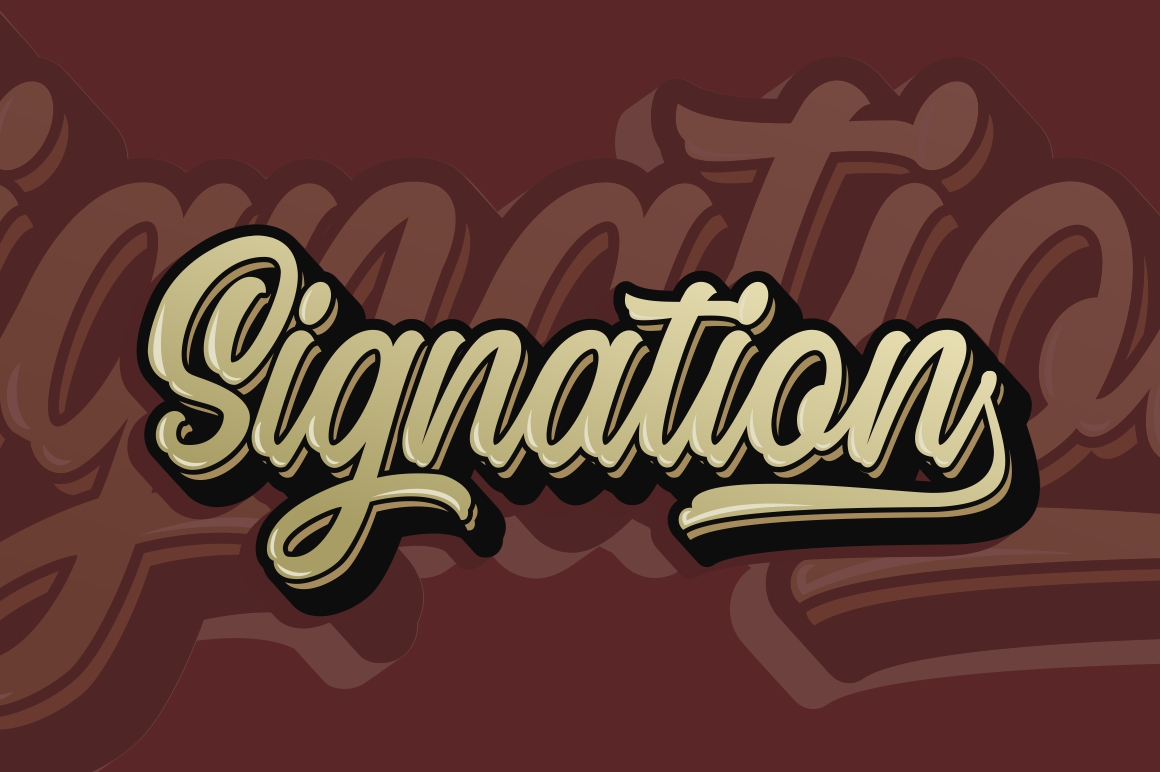 Signation - Handlettering Font example image 11