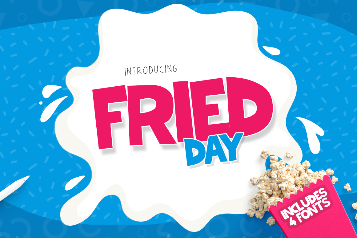 Fried Day Font Family (4 Fonts) example image 1