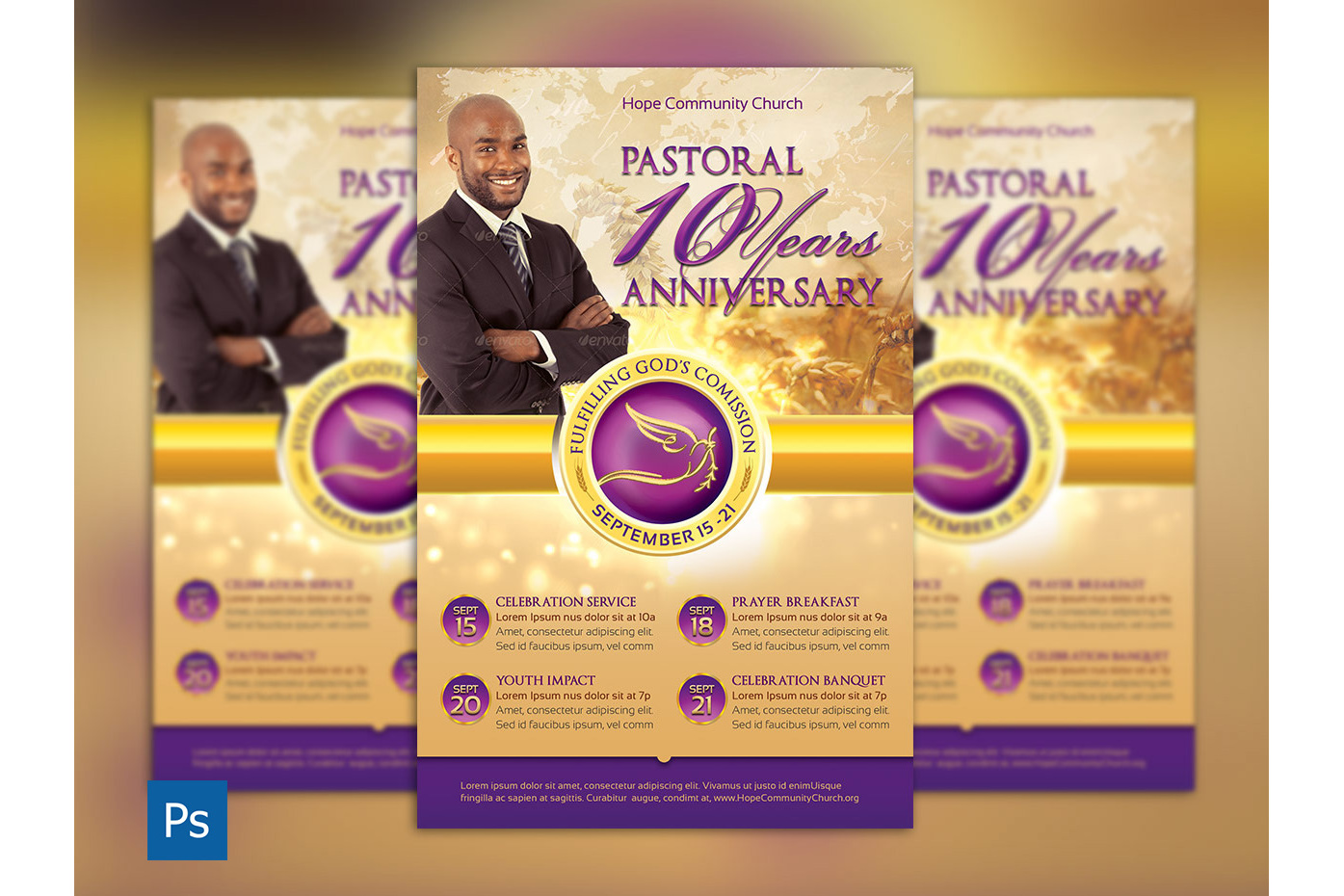 Clergy Anniversary Flyer Template example image 1