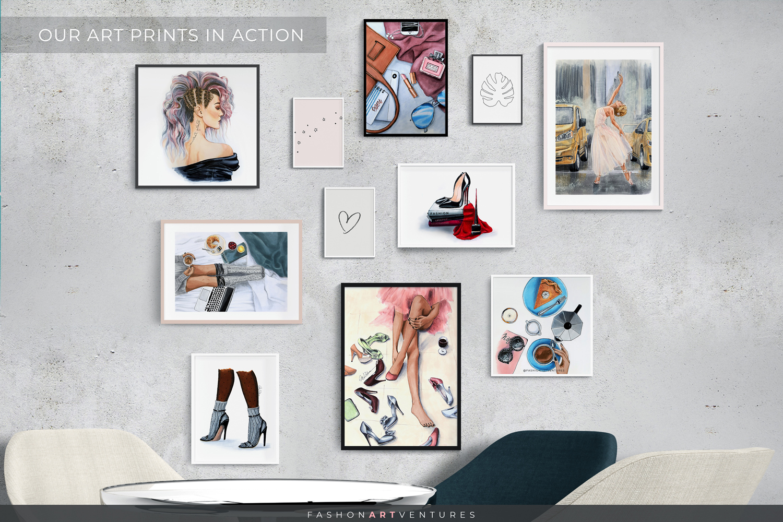 Black Heels - Shoe Illustration, Fashion print, Home decor example image 3