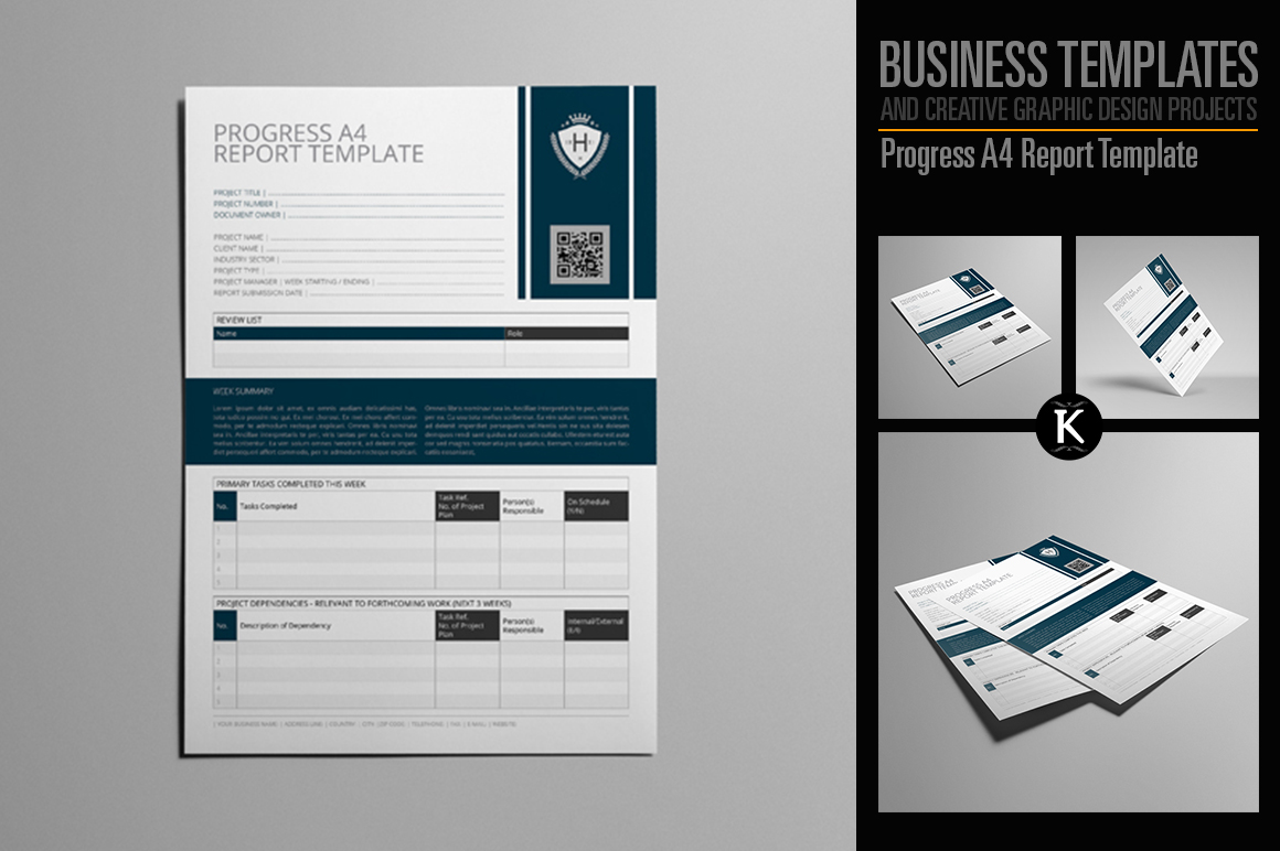 Progress A4 Report Template example image 1