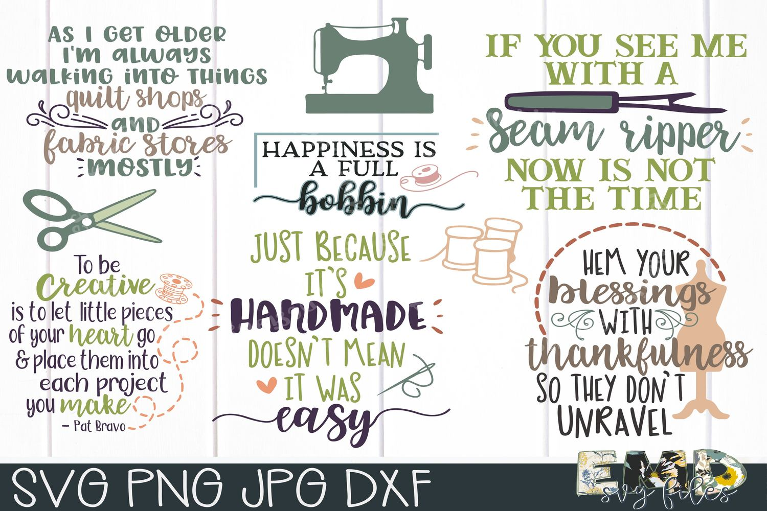 Sewing SVG Bundle, Creative SVG Files, Fabric Svg, Quilting example image 1