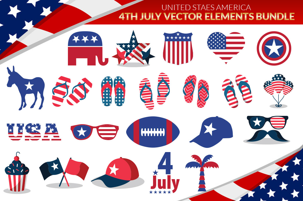 US States 4th July design Element svg example image 3