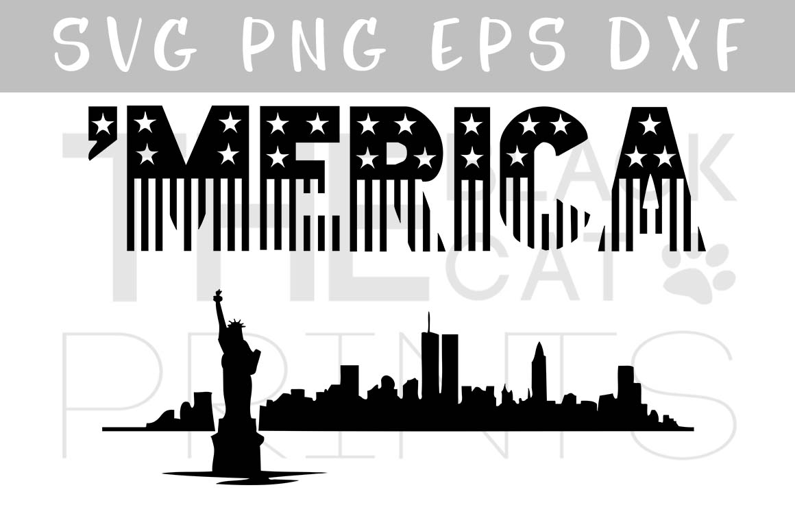 'Merica SVG PNG EPS DXF example image 4