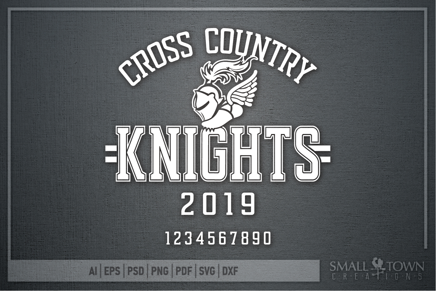 Knight Cross Country, Winged Shoe, PRINT, CUT & DESIGN example image 5
