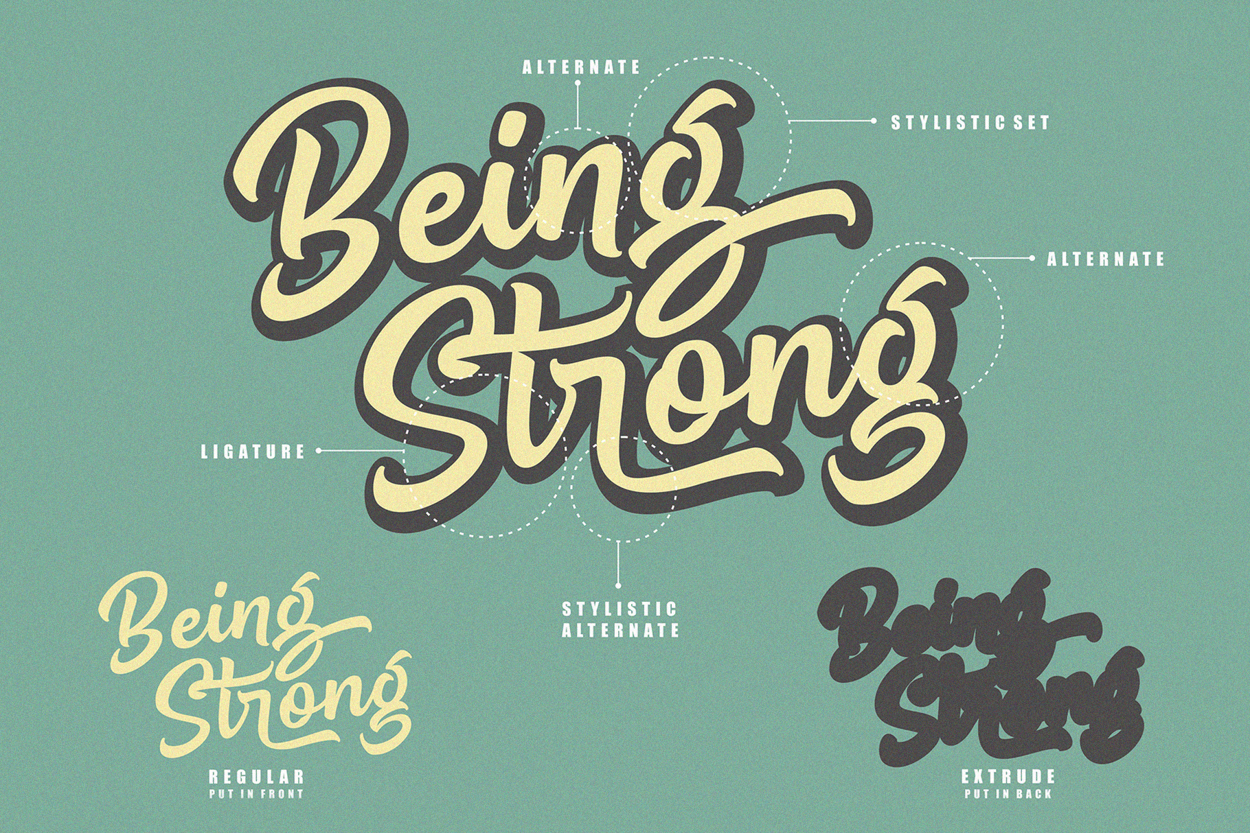 Being Strong Layered Font example image 2