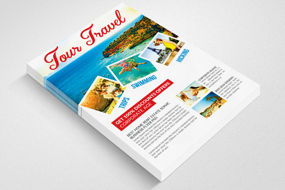 Holiday Tour/Travel Psd Flyer example image 3