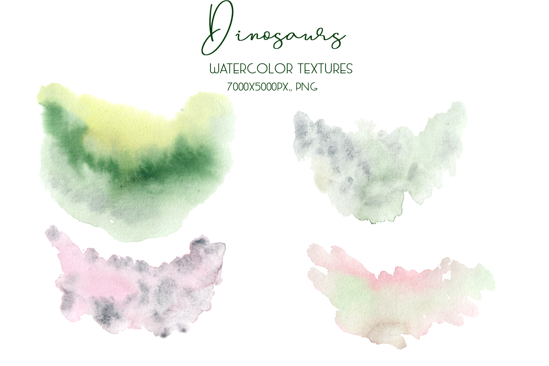 Dinosaurs. Watercolor clipart example image 18