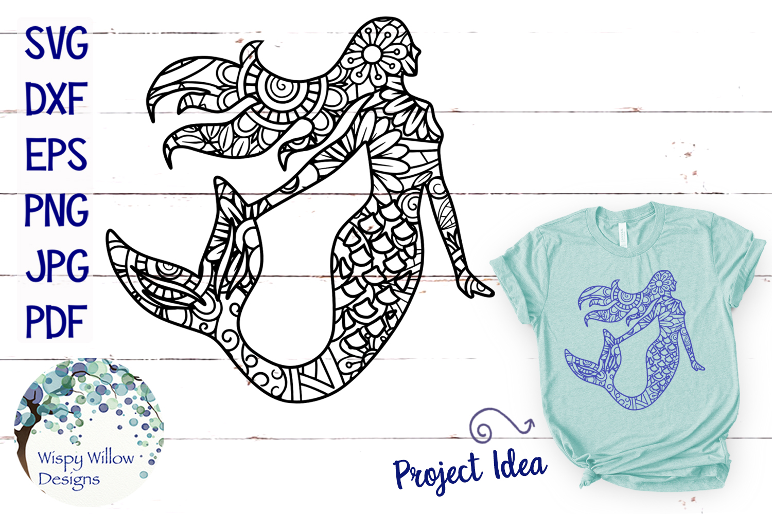 The Summer Zentangle SVG Bundle | Mermaid | Pineapple example image 7
