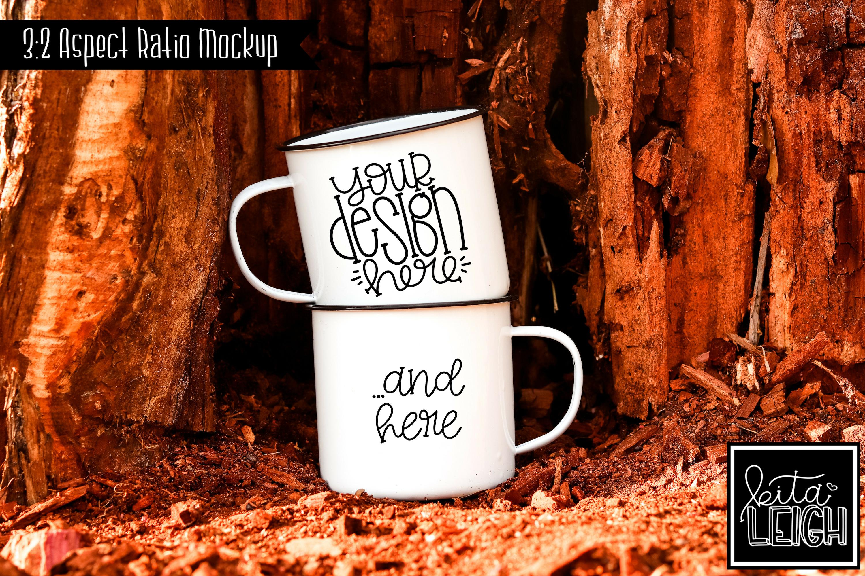 Double Stack White Campfire Mug Mockup Bundle example image 6