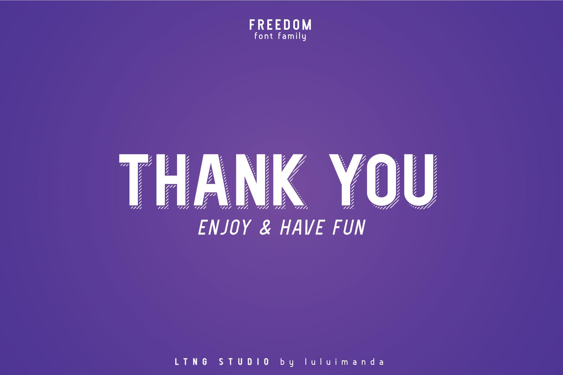 FREEDOM font family example image 12