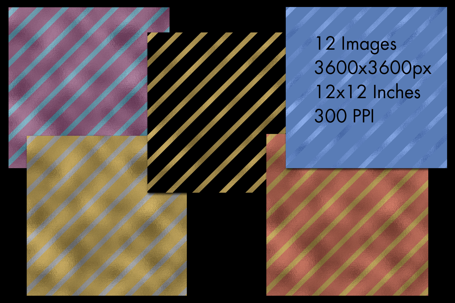 Diagonal Striped Backgrounds - 12 Image Set example image 2