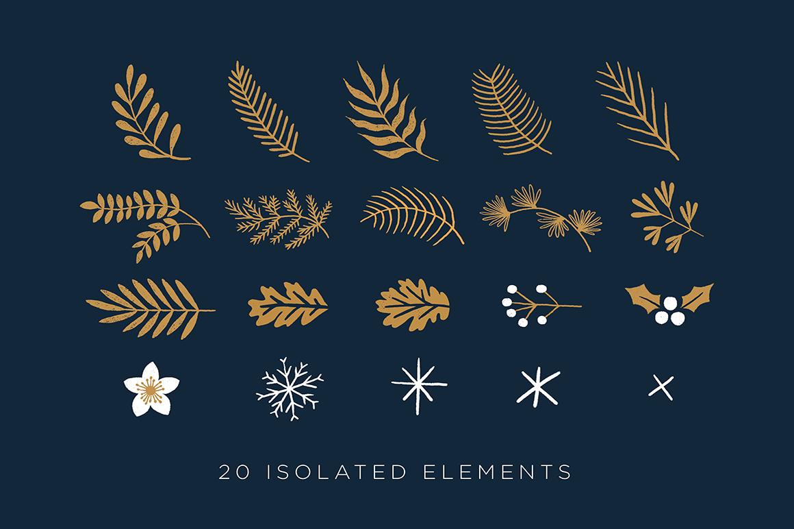 Elegant Christmas Graphic Set example image 2