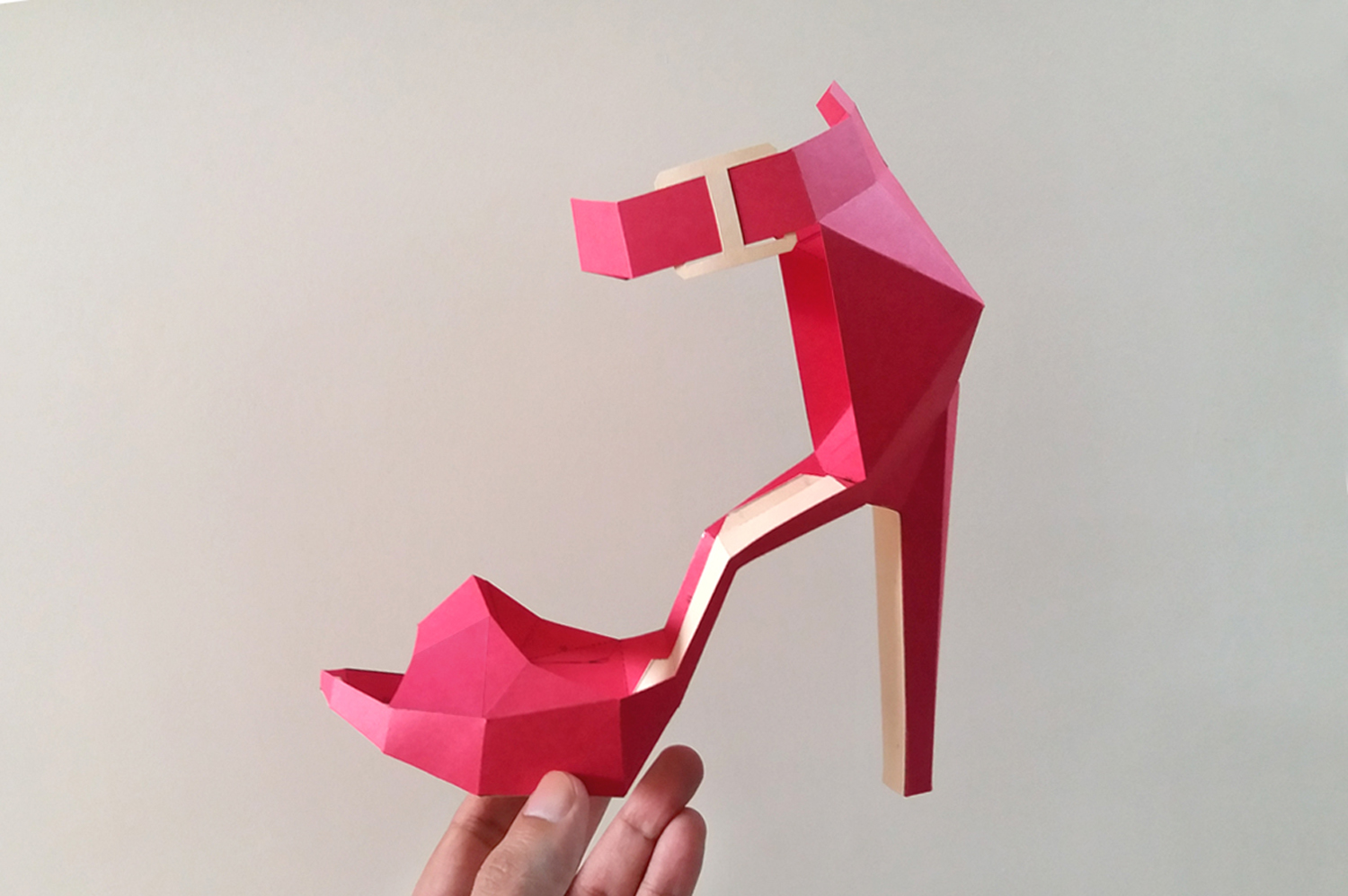 DIY High Heel Belly - 3d papercrafts example image 3