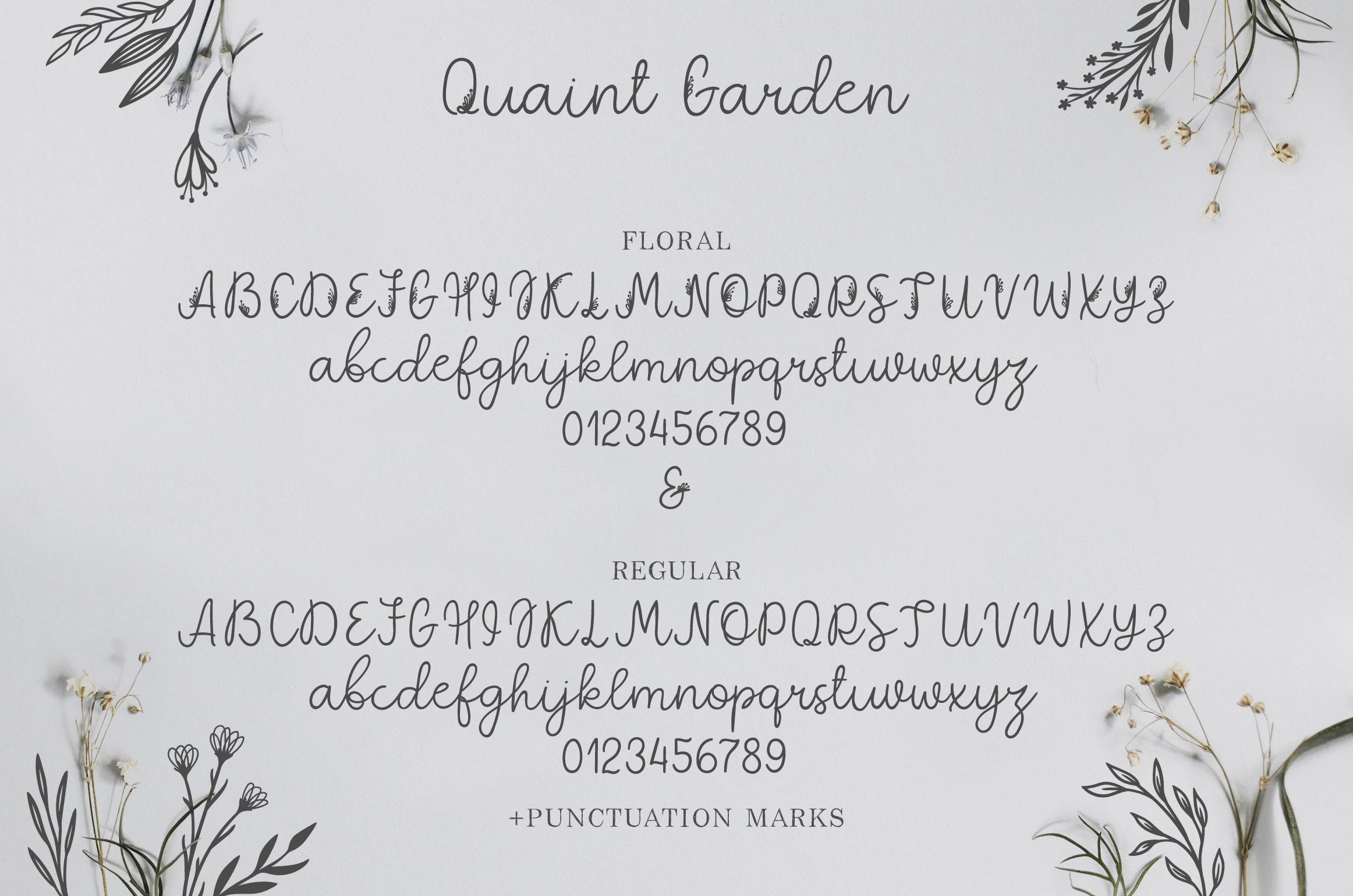 Quaint Garden Floral Font EXTRAS example image 4