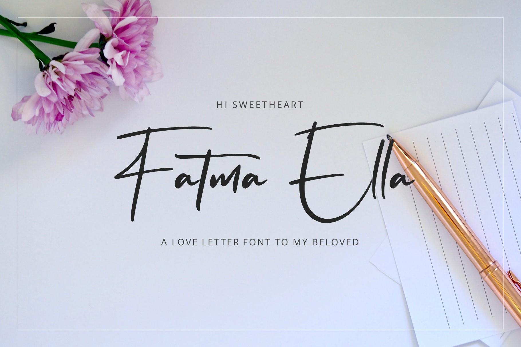Flavellya - Luxury Signature Font example image 1