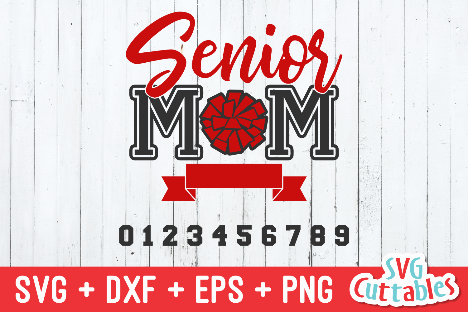 Cheer Senior Mom | Cheer SVG Cut File example image 2