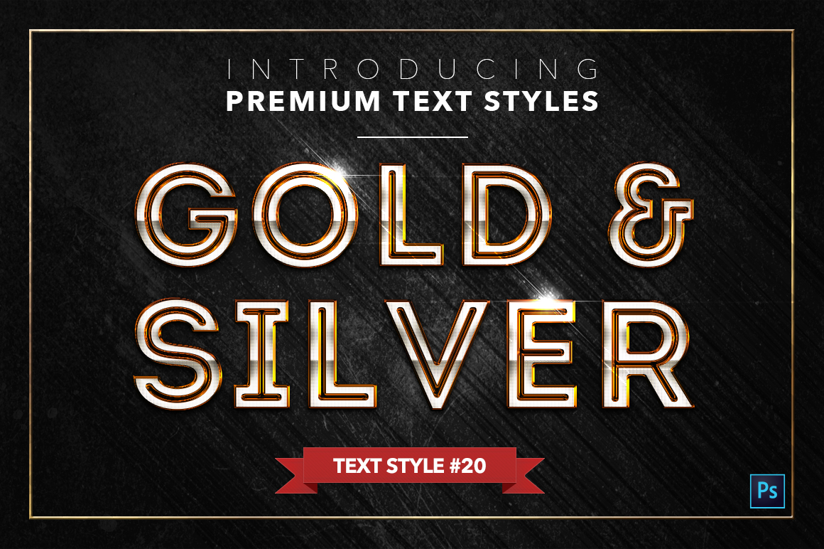 Gold & Silver #2 - 20 Text Styles example image 5