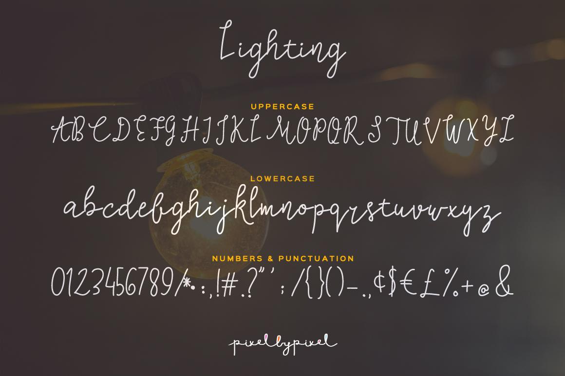 Lighting Script Font example image 4