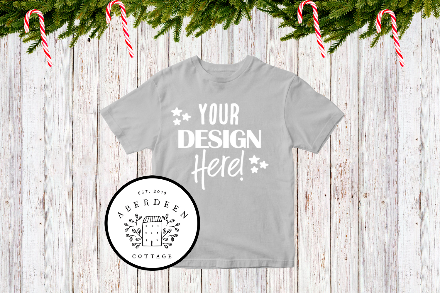 Children's Christmas T-Shirt Mock Up Mini Bundle example image 5