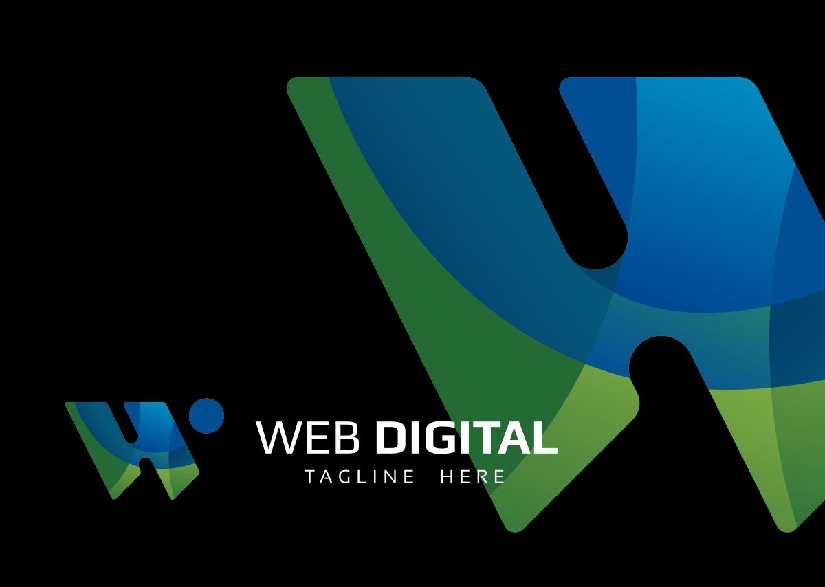 Web Digital W Letter Logo example image 4