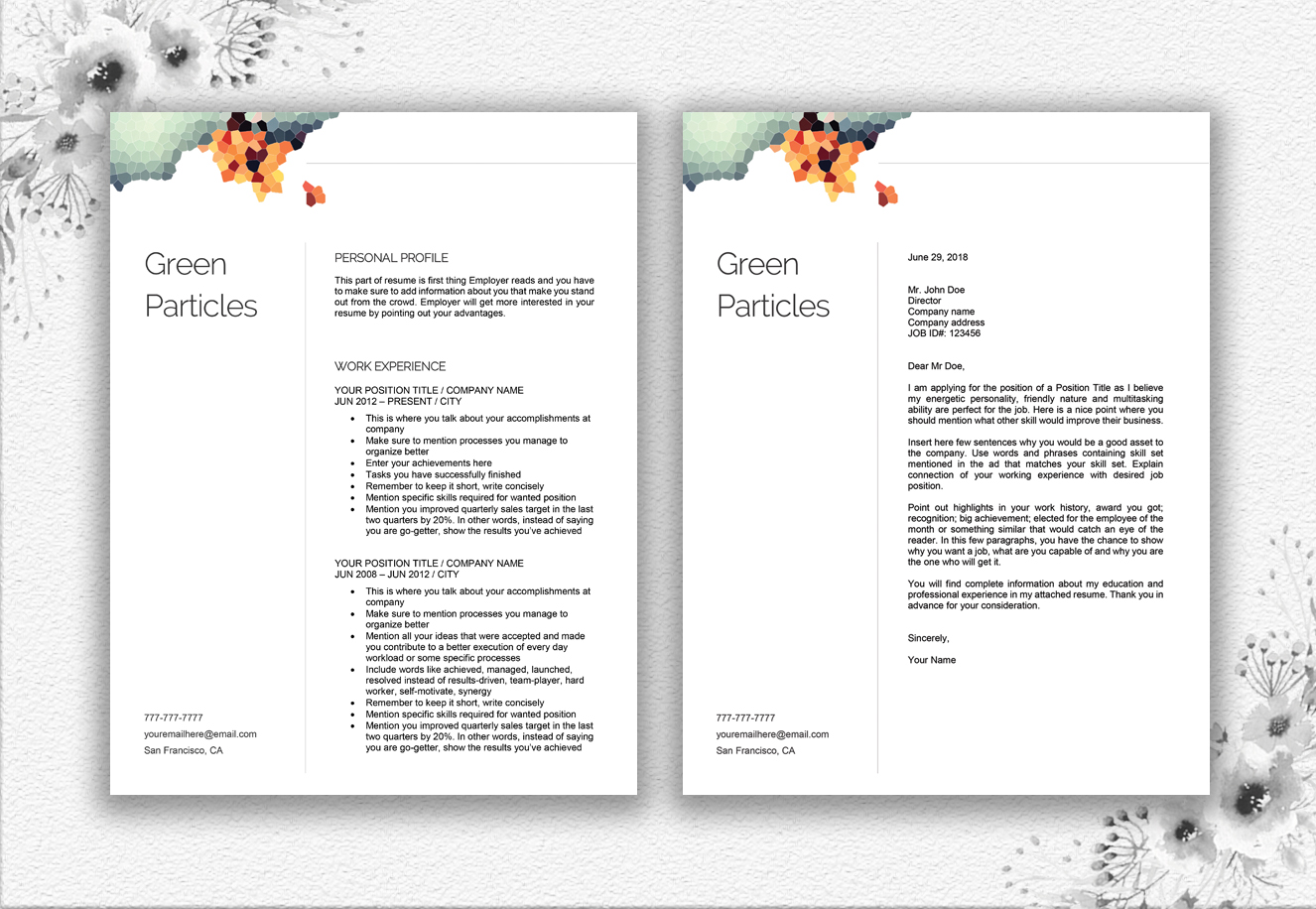 Resume Template Design example image 7